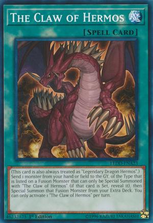 The Claw Of Hermos Custom Yugioh Cards Yugioh Dragons Yugioh Cards
