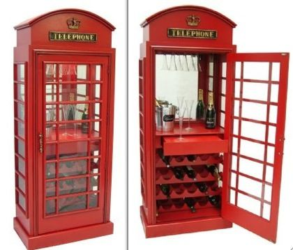 Telephone Booth Wine Cabinet, Project For Tim!