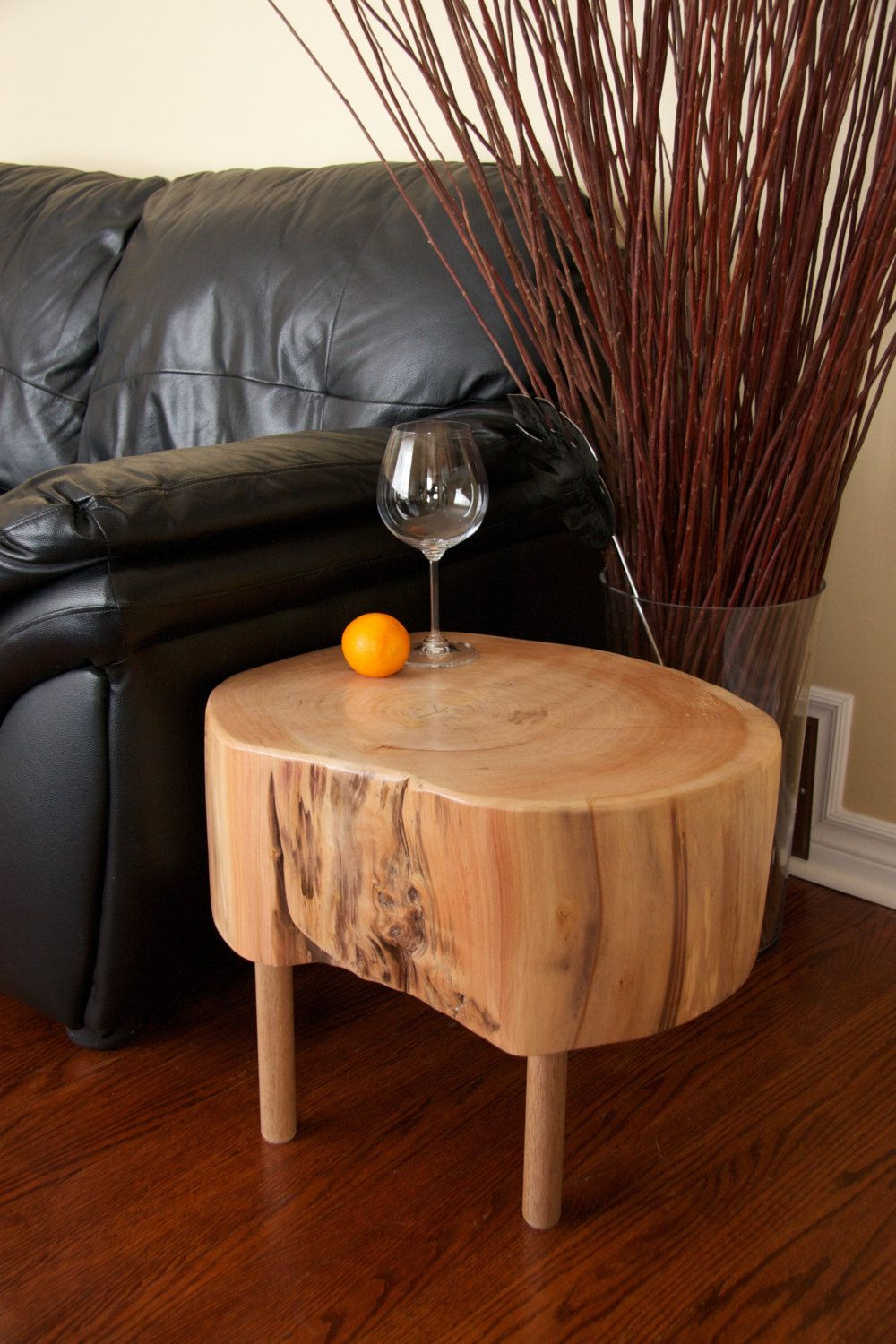 Live Edge Tree Trunk Coffee Table Table Tree Trunk Coffee Table