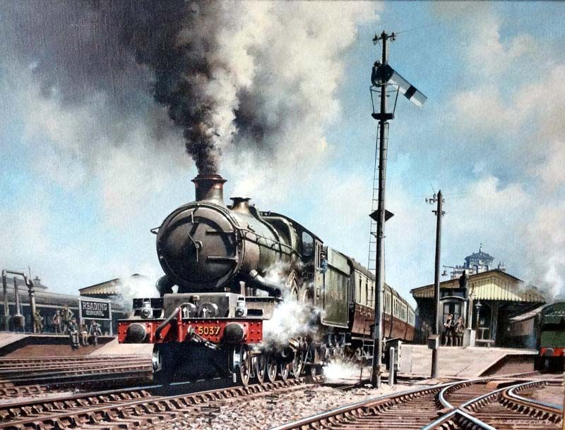 Railroad Train Posters and Signs | Signs by Andrea |Reading Railroad Train Art Prints