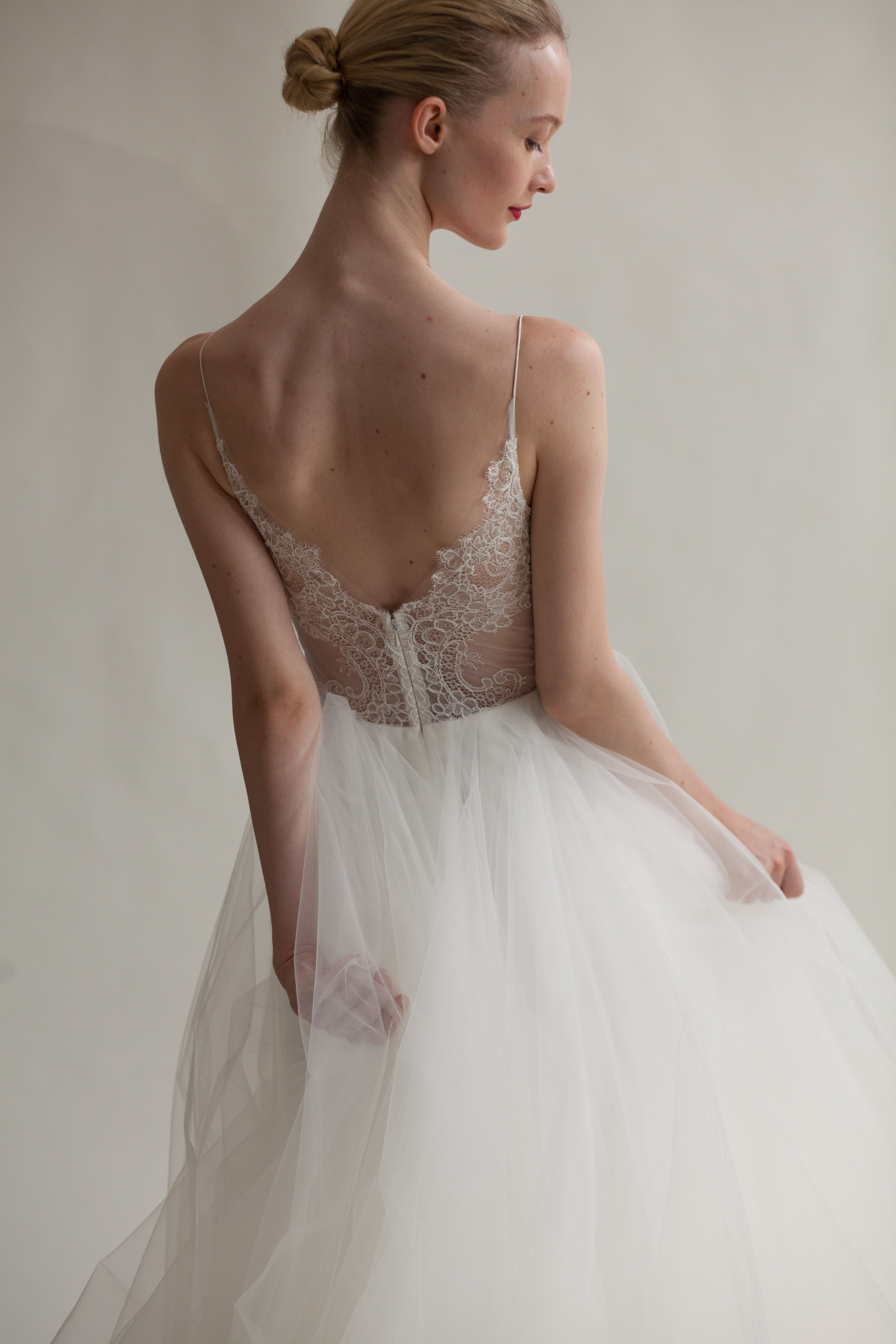 f9a71f1e6968 The back on @amsale Christos Penny dress is stunning. The lace creates for  an