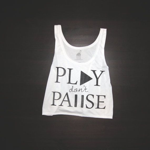 4558258a8fa Crop Top Urban Play Dont Pause for Women by BatHouseDesign on Etsy, $17.99  ^^I'm in love with BatHouseDesign right now, so many cute tops!!