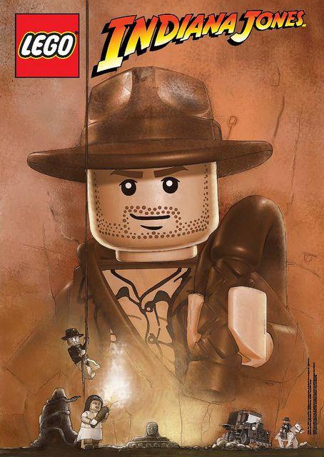 baab4f6c Lego Indiana Jones Movie Poster | Indiana Jones | Lego indiana jones ...