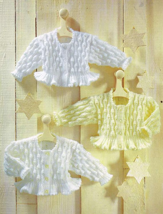 baby matinee coat vintage knitting pattern PDF instant download ...