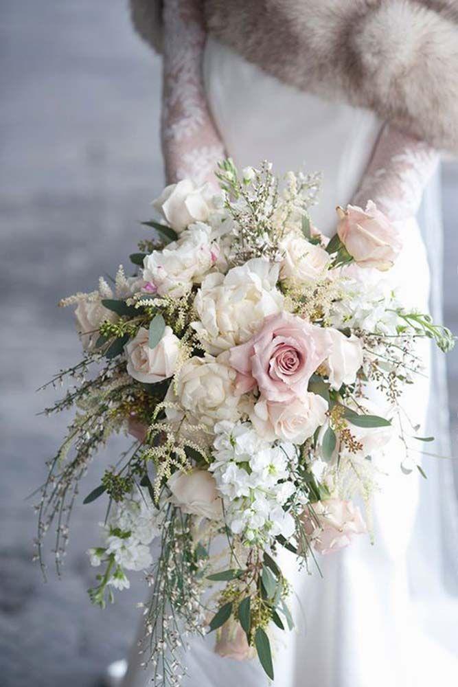 45 Glamorous Blush Wedding Bouquets That Inspire Flowers