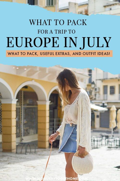 Packing For a Summer In Europe (In Just a Carry-On!)
