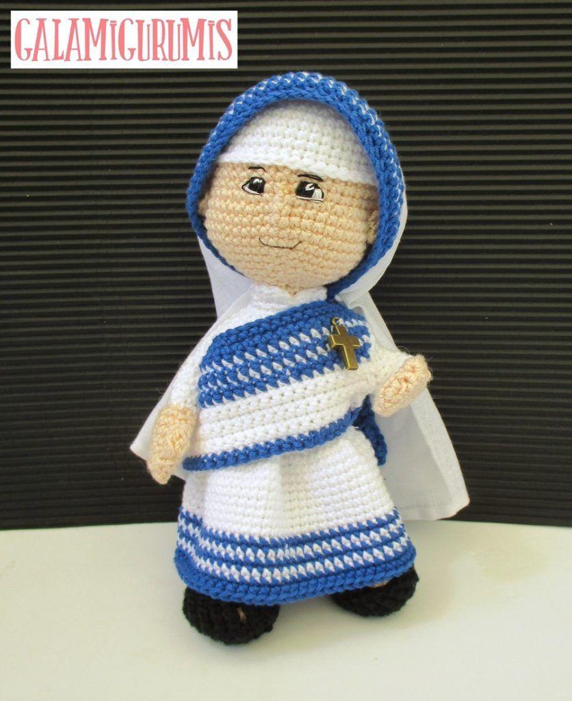 Madre Teresa de Calcuta, una Santa de Ganchillo. Patrón Gratis ...