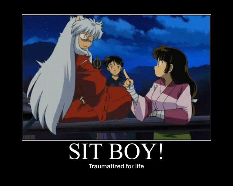 At least you tried Sango  Sit boy! by DragonLovingGirl6.deviantart.com on @deviantART