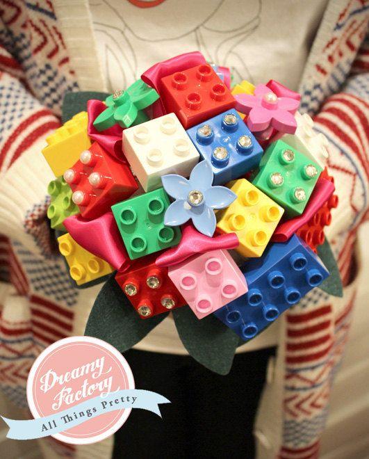 Lego Wedding Altar: Customize Lego Bricks Bridal Bouquet With Cyrstals