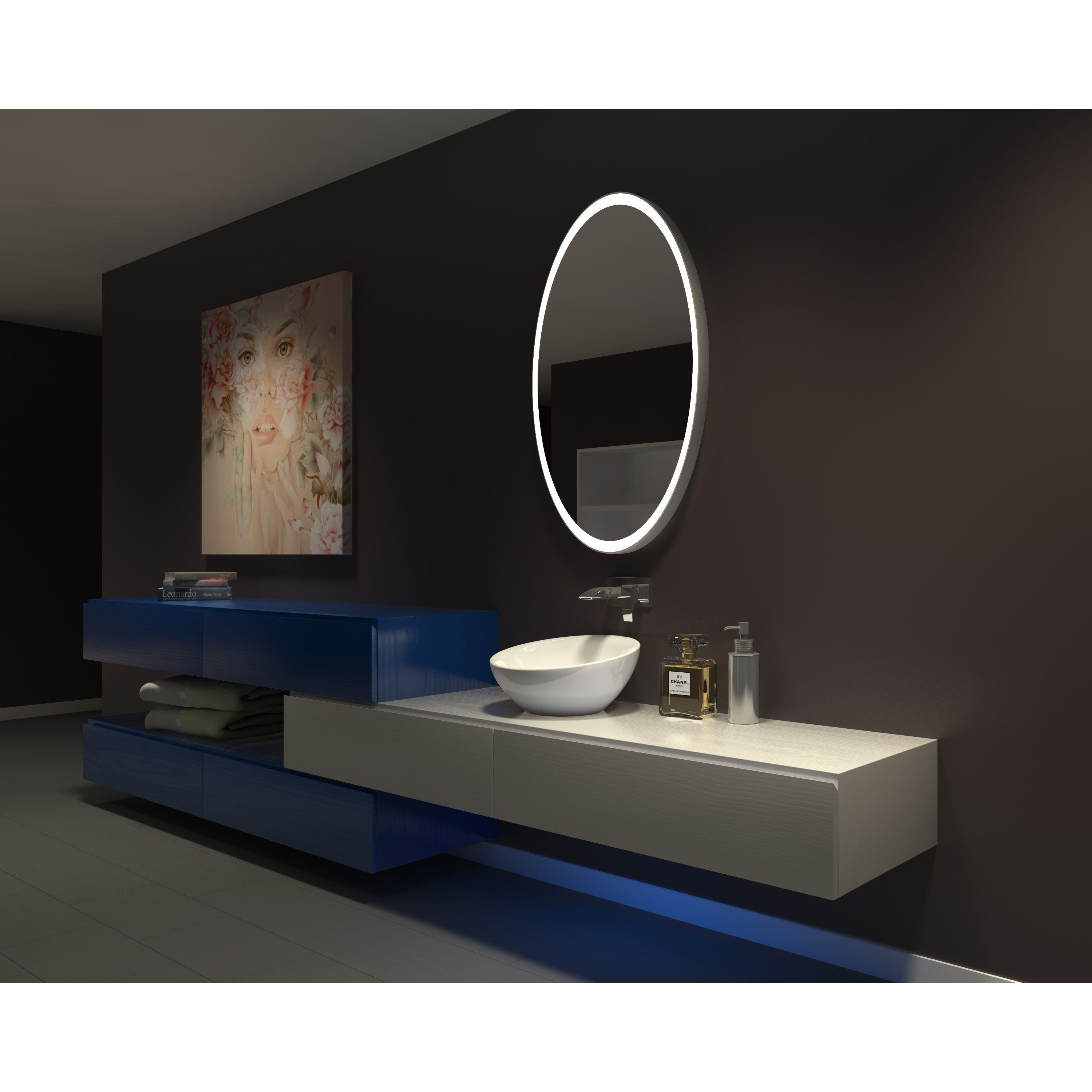 Make Photo Gallery IB Mirror Dimmable Lighted Bathroom Mirror Galaxy In X In K