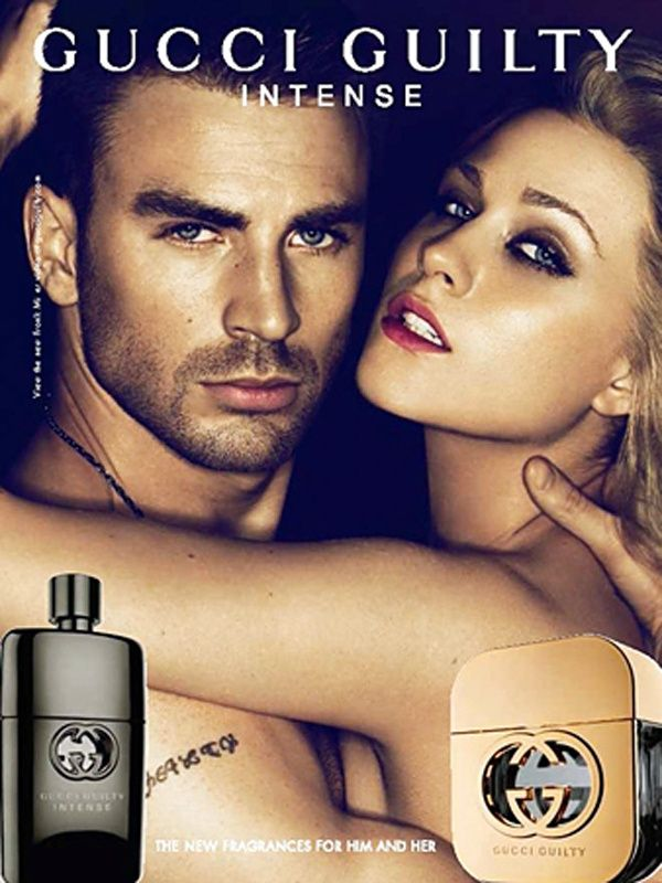 gucci guilty intense fragrance ad featuring chris evans
