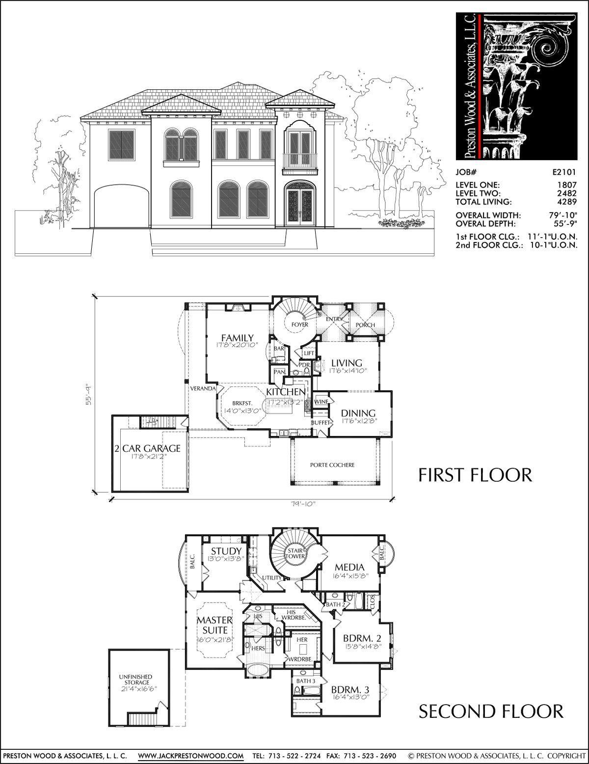 Best Two Story Housing Custom 2 Story Home Blueprints