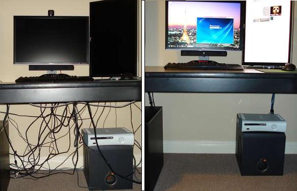 How To Diy Cable Management On A Budget Hack N Mod Nascondere Cavi Organizzare I Cavi Organizzazione Scrivania