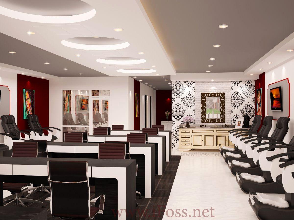 Nail Salon Interior Design In 2020 Salon Interior Design Nail