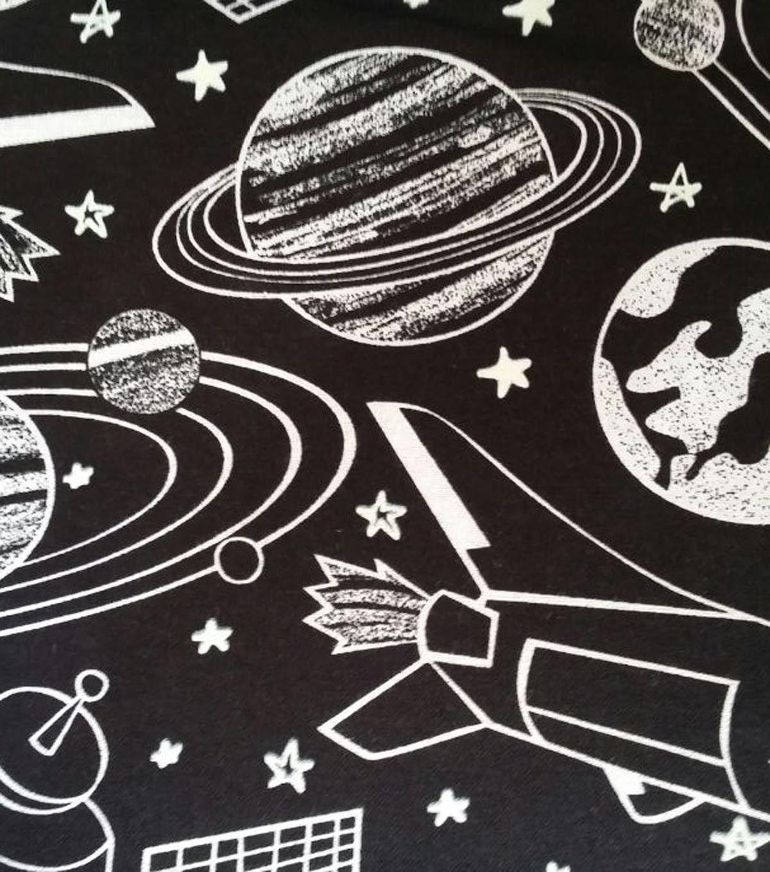 AntiPill Fleece Space Sketch Glow Sketches, Space