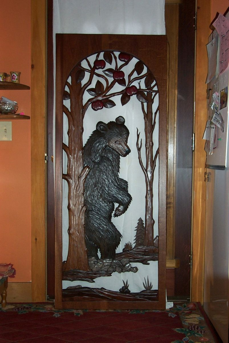 Carved Bear Insert Would Be Pretty If It Was On A Door