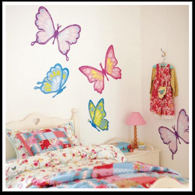 Dormitorios Con Mariposas Ideas Para Decorar El Cuarto De Una Nina Con Mariposas Decorac Decoracion De Muros Decoracion De Unas Diseno De Habitacion De Ninos