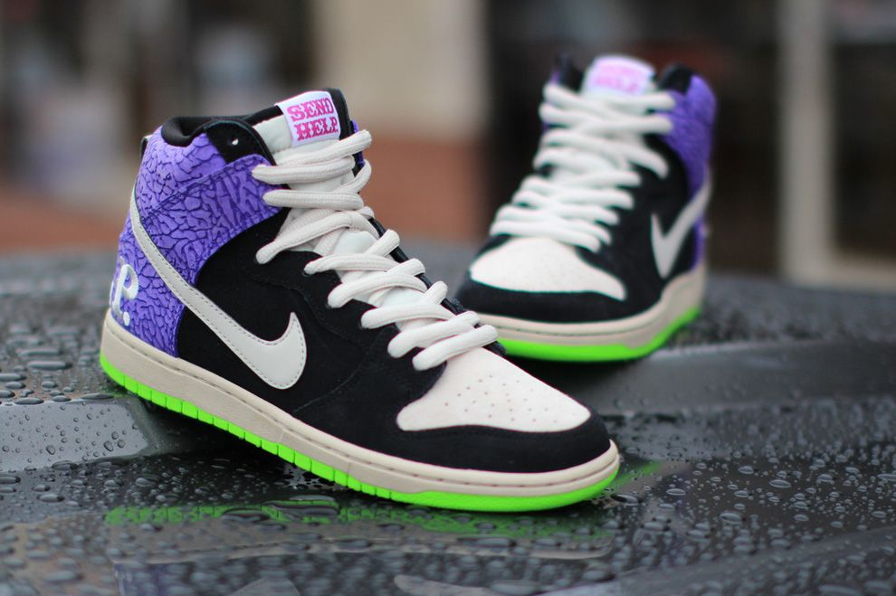 "uk availability cf43c 87792 Todd Bratrud x Nike SB ""Send Help 2″ Dunk Hi (Detailed Pictures)"
