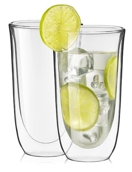 Get this wonderful set of 2 spike cocktail Double walled glasses glasses to entertain your guests at parties. Keep your hands and tabletop dry, no condensation will form on the outside of the glass.