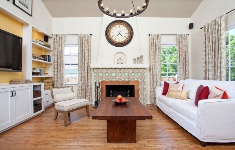 Interior : Extraordinary Artistic Carved European Fireplace Design With  Charming Living Room Design And Round Wall