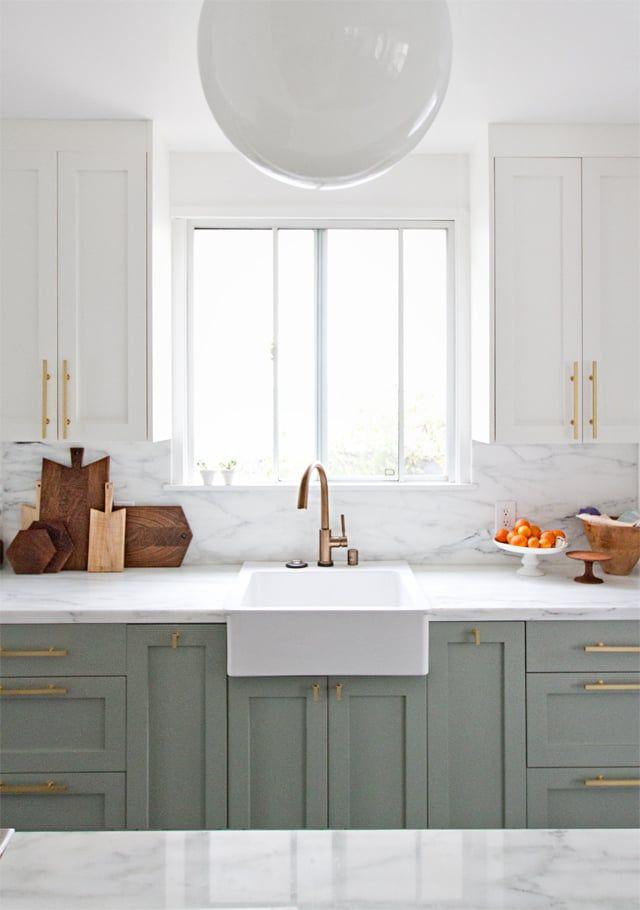 Best Farrow Ball — Wimborne White Green Kitchen Cabinets 640 x 480