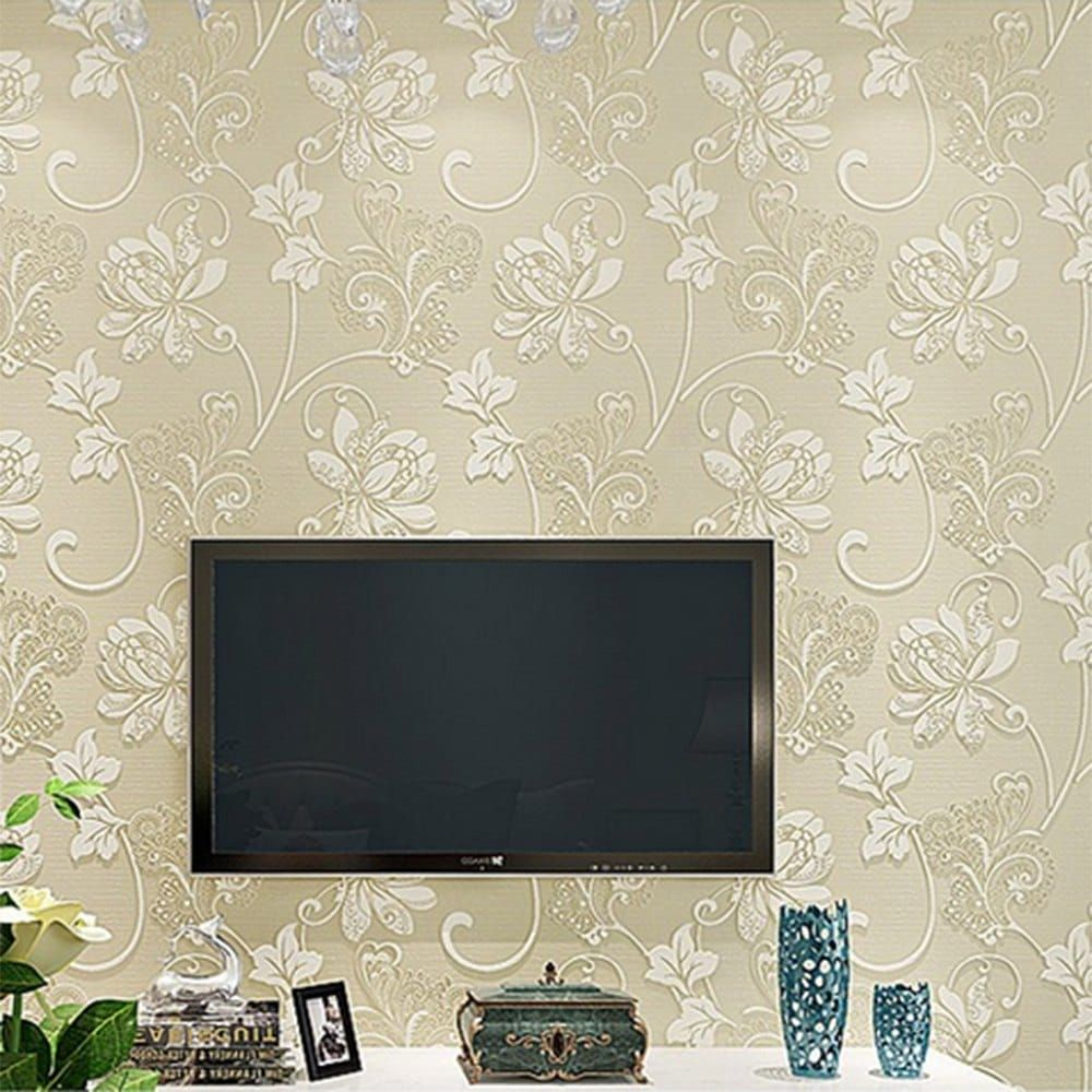 Bacaz Emboss Parget Jade Flower 3d Ceiling Wallpaper Mural For Living Room 3d Wall Ceiling Mural Wall Paper 3d Wall Sticker Latest Fashion Wallpapers