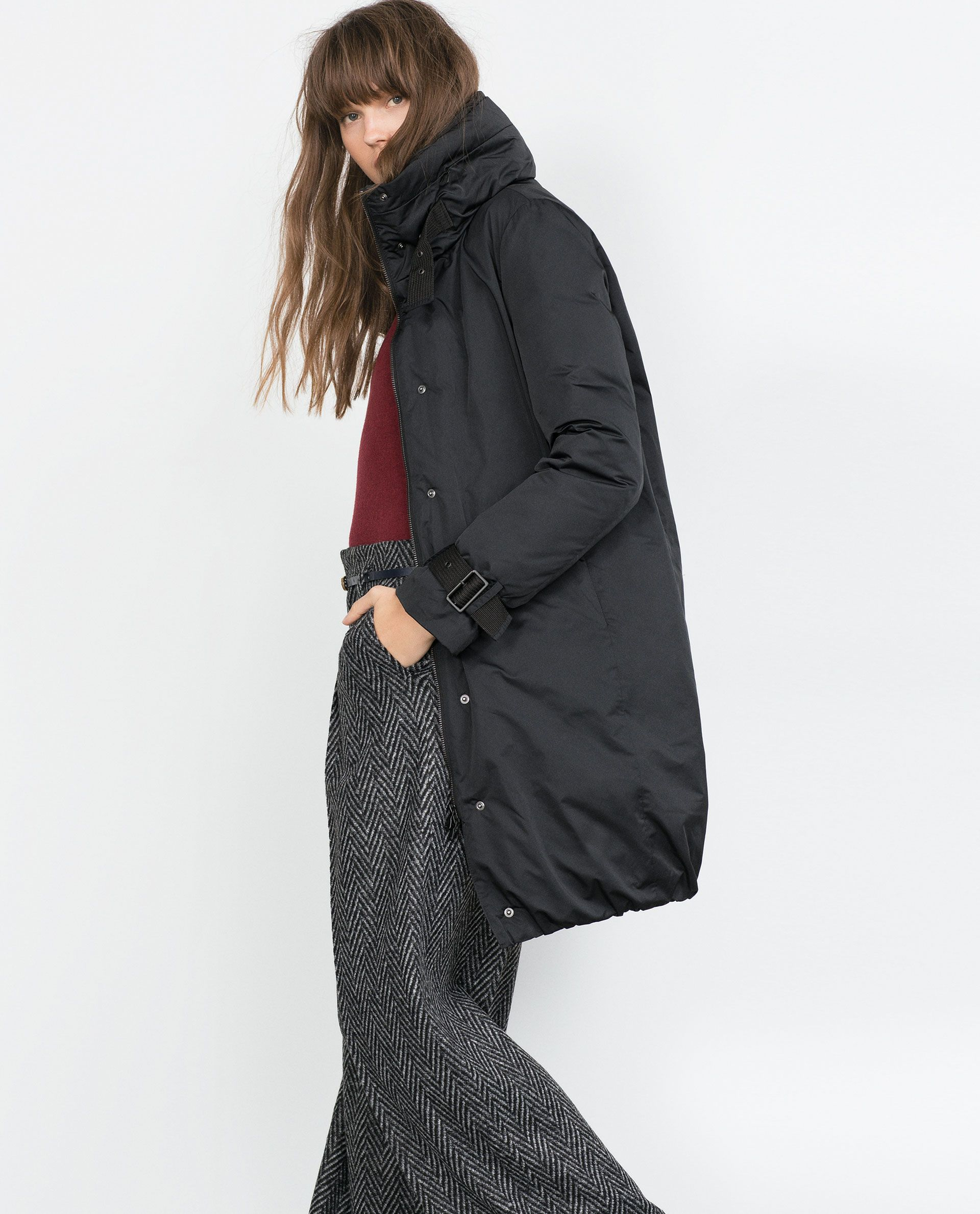 LONG DOWN JACKET - Quilted Coats - Outerwear - WOMAN | ZARA ... : quilted long down coat - Adamdwight.com
