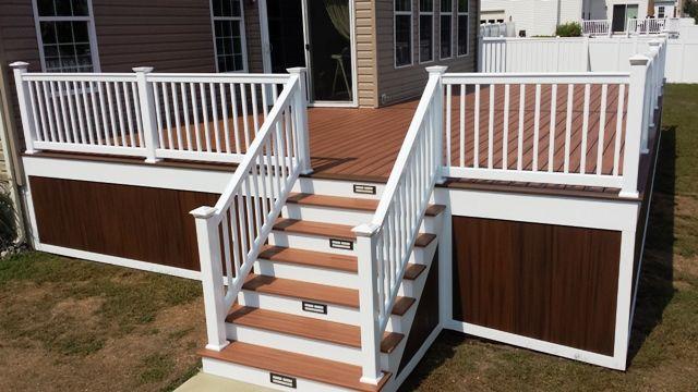 Backyard Deck Enclosure Idea Deck Steps Trex Stair Treads Deck