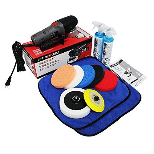 Chemical Guys Buf 209 Porter Cable 7424xp Detailing Complete Detailing Kit With Pads Backing Plate And Accessories Car Detailing Kit Porter Cable Car Care Kit