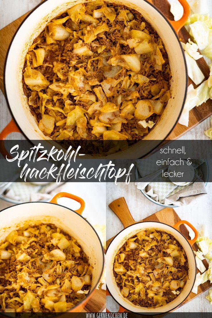 Rezept: Spitzkohl-Hackfleisch-Topf - Gernekochen.de