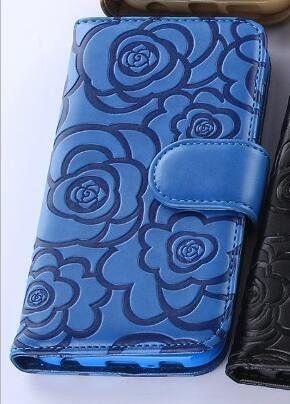 fashion 3D Camellia Flower Wallet phone Case For iphone 5s 5c 5se 6 6s 7 7 plus for samsung note 4 5 7 s6 edge plus s7 edge G530