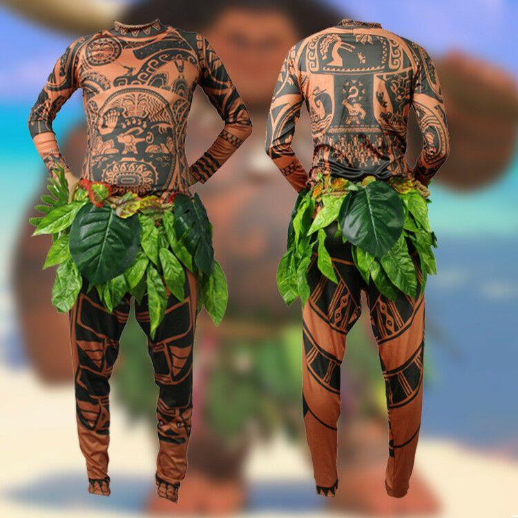 Maui Tattoo Clothing//Maui Suit//Mens Maui Costume ,Moana Maui Costume Halloween Adult Maui Mens Cosplay Costume