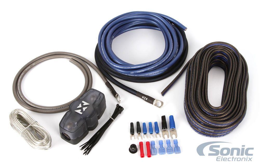 The Nvx Xapk8 Is A True 8 Gauge Amplifier Wiring Kit Thick And Well