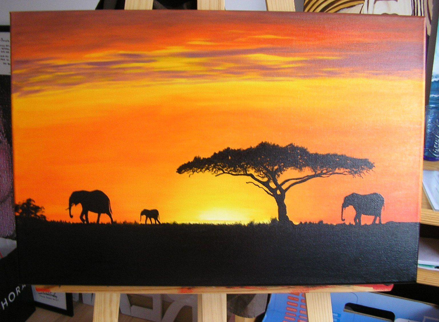 Resultado de imagen de paisaje africano oleo daniel - Pintar en lienzo para principiantes ...