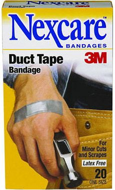 A man requires a little more than standard flesh-colored band-aids. Dress your boo-boos accordingly with Nexcare's 3M Duct Tape Bandage ($8)