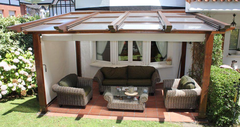 Pergolas de madera y policarbonato buscar con google roof - Terrazas con pergolas de madera ...