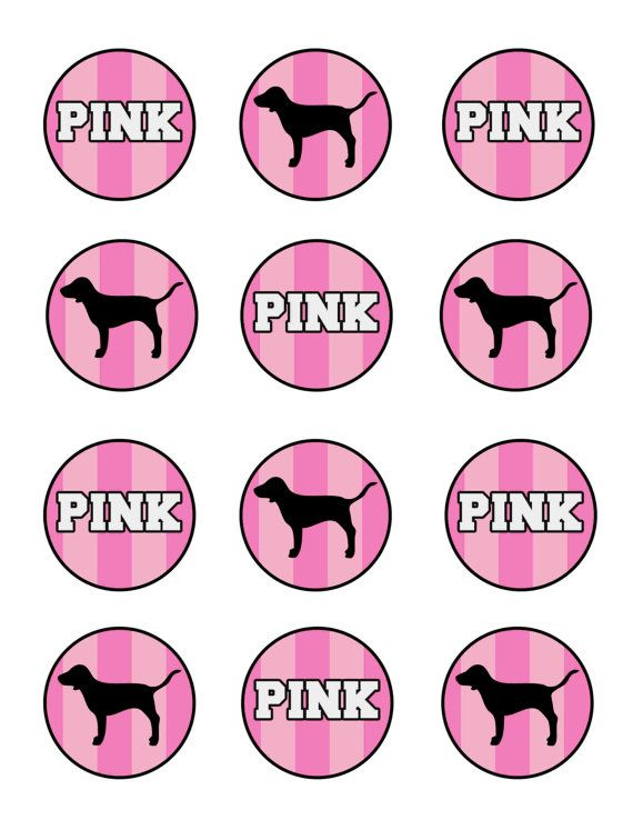 0a7cf7c60f Victorias Secret Pink Inspired Cupcake Toppers in 2019
