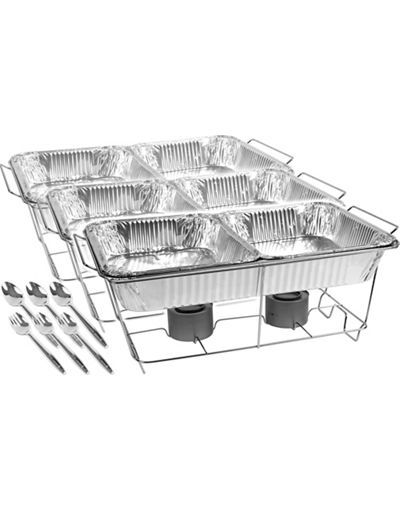 Chafing Dish Rack Stunning Chafing Dish Buffet Set 24Pc  Chafing Dishes Buffet And Dishes Review