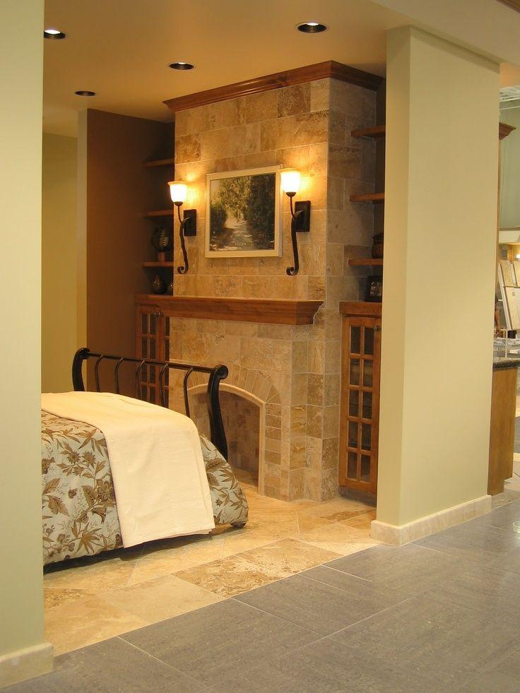 The Tile Shop: travertine fireplace | Remodeling | Pinterest ...