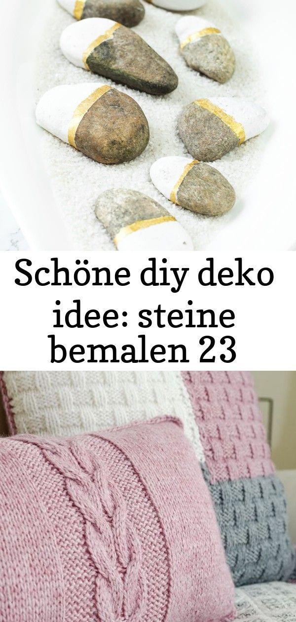 Schöne diy deko idee: steine bemalen 23 #steinebemalenanleitung Steine bemalen in weiß - gold: tolle DIY Deko Idee, nicht nur im Sommer! Einfach & günstig. Eignet sich auch prima als Geschenk.#basteln #diy #diydeko #sommer #deko gestrickte Kissen Handarbeit Türmatte handgemachte Teppich verknotet Jute | Etsy Raglan von oben stricken - RVO | DIY-Anleitung für Anfänger - Talu.de #steinebemalenanleitung