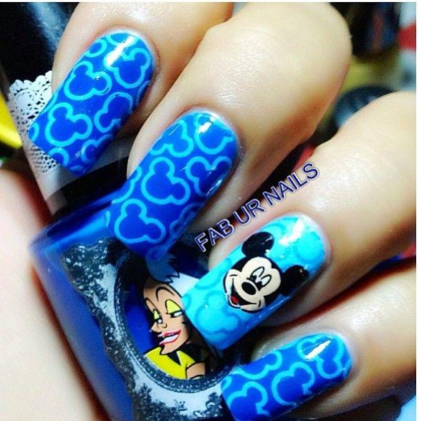 Mickey Mouse Nails   B   Pinterest   Arte