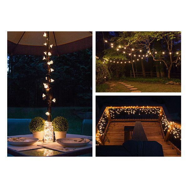 Outdoor and Patio Lighting Ideas (€4,54) ❤ liked on Polyvore featuring home, outdoors, outdoor lighting, outdoor patio lights, outdoor light string, outdoor string lights, patio string light and patio string lights