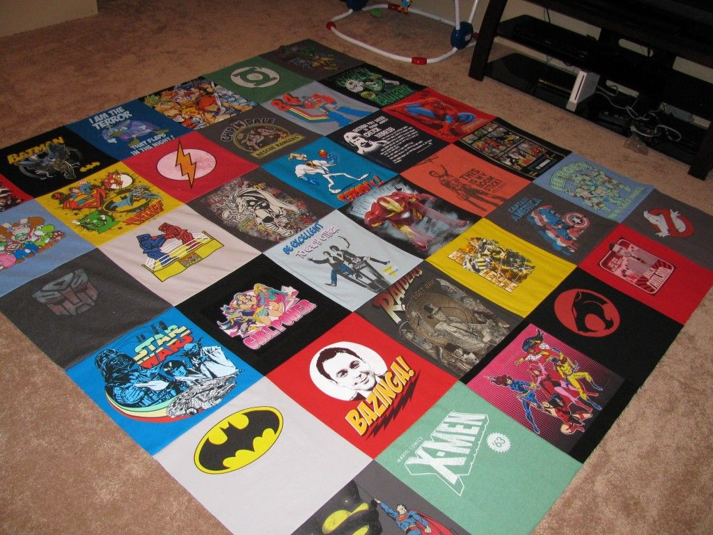 how to make a tshirt quilt by hand
