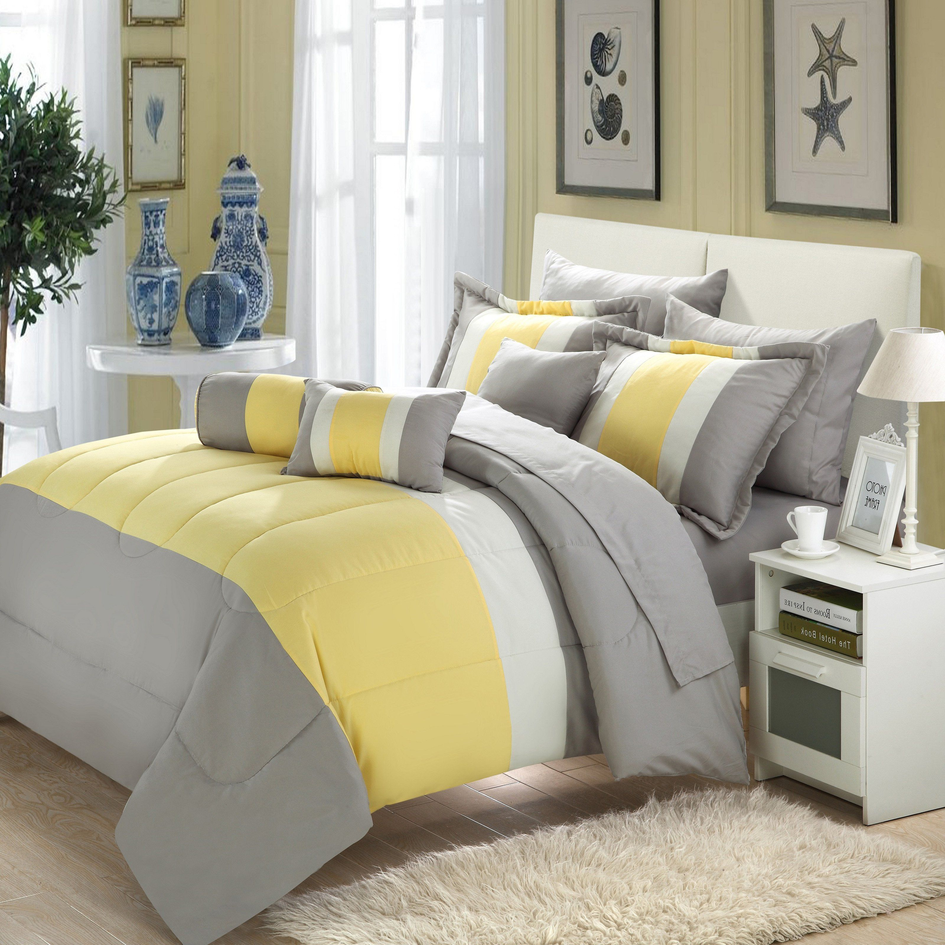 Chic Home Serenity 10 Piece Bed In A Bag Comforter Set Comforter Sets King Comforter Sets Bedding Sets