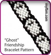 Friendship Bracelet Pattern Ghost Design by My Friendship Bracelet Maker myfbm.com