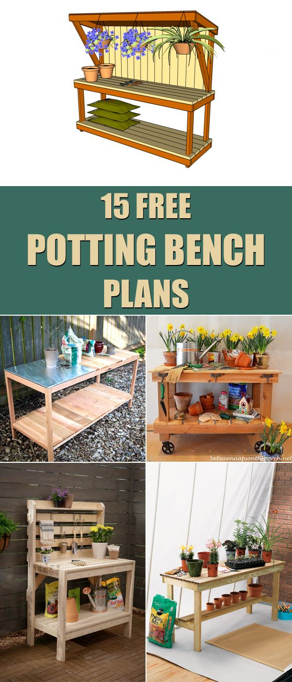 15 Free Potting Bench Plans Pallet Shed