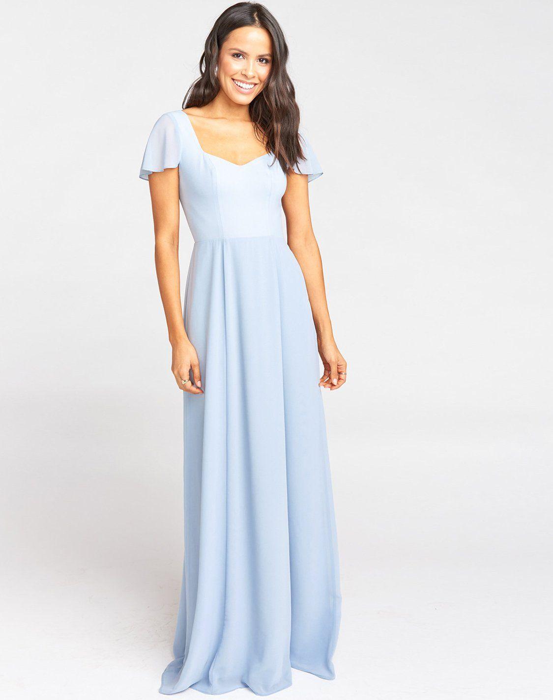 Marie Sweetheart Maxi Dress Steel Blue Chiffon In 2021 Powder Blue Bridesmaid Dress Blue Bridesmaid Dresses Bridesmaid Dresses [ 1425 x 1125 Pixel ]