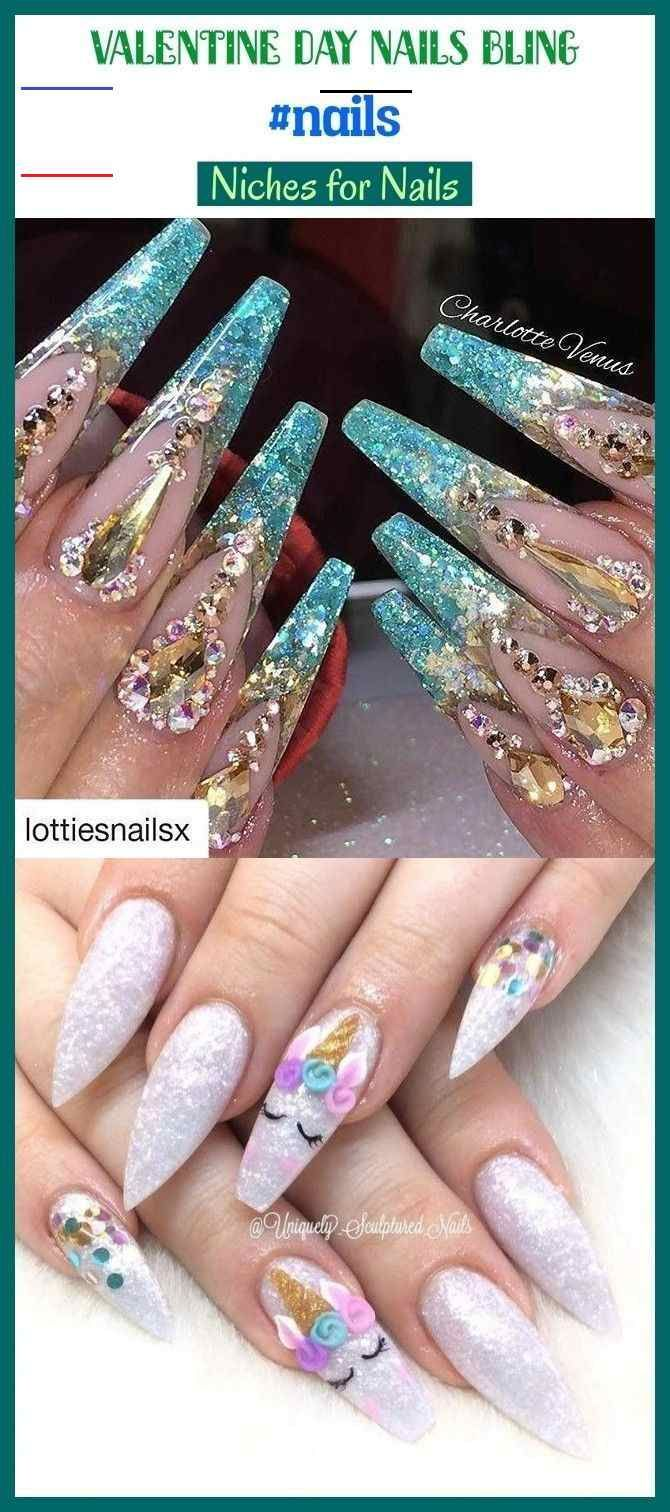 Valentine day nails bling #nails #blog #seo #beauty. valentine day nails acrylic...  #Acrylic #beauty #Bling #Blog #day #nails #seo #Valentine<br>