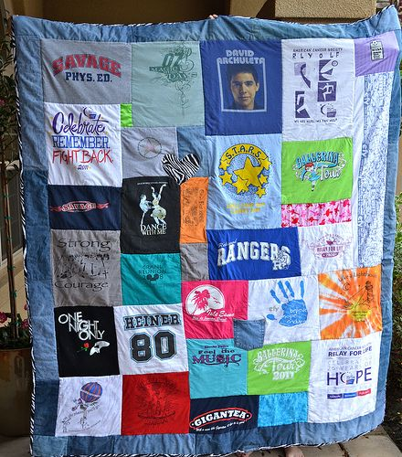 Tshirt quilt - I plan to do this with some of my favorite clothing items that Ryder has worn over the years.  One day, I'll give it to him.