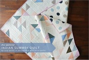 Free Pattern Indian Summer Quilt By Suzy Williams Summer Quilts Quilts Free Quilting